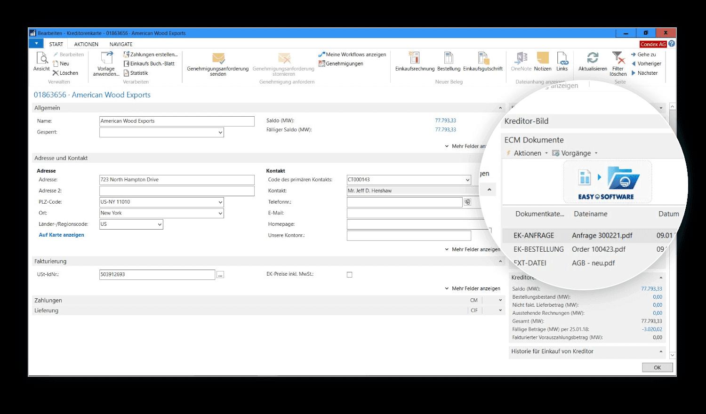 Alles im auf einen Blick mit der Factbox im Navision-Client