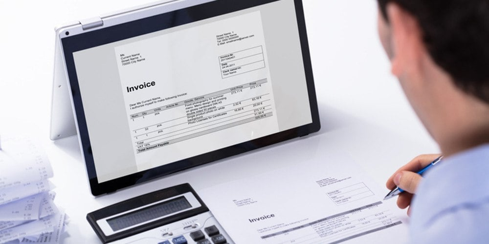 The incoming invoice - definition - illustration picture