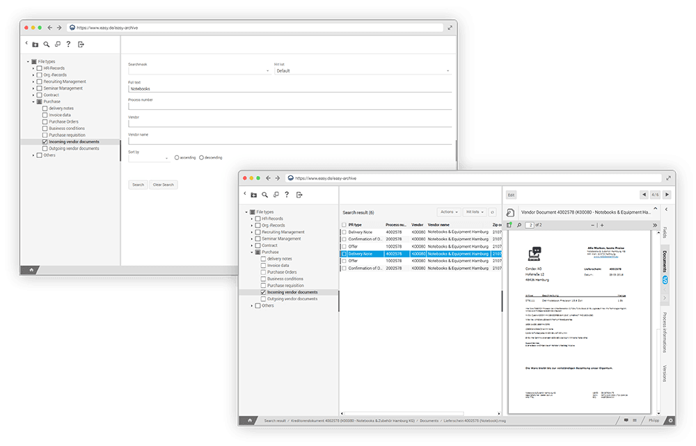 Archiving software for all purposes – EASY SOFTWARE AG