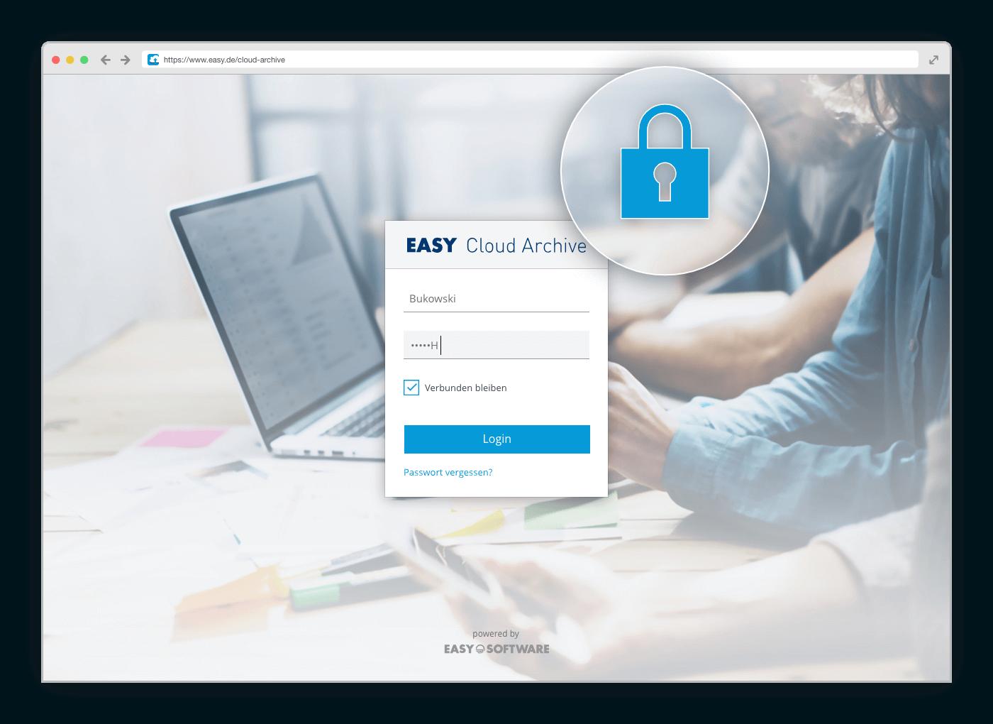 EASY Cloud Archive Datenschutz & Sicherheit