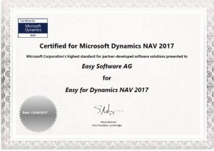 Die Navision-Schnittstelle – von Microsoft zertifiziert.