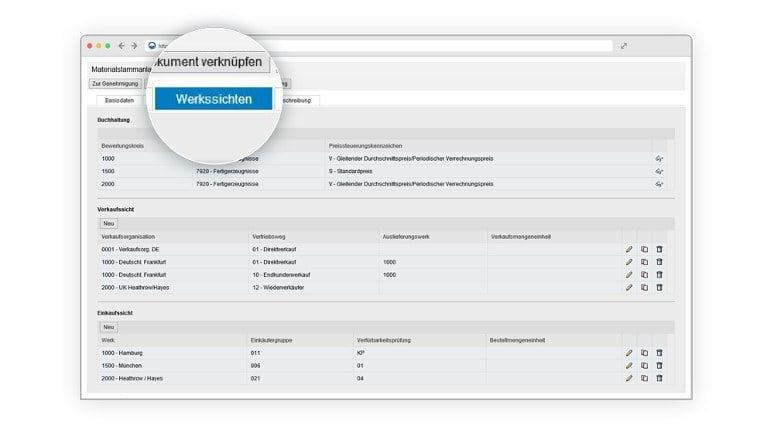 Materialmanagement in SAP - die werksspezifische Ansicht.