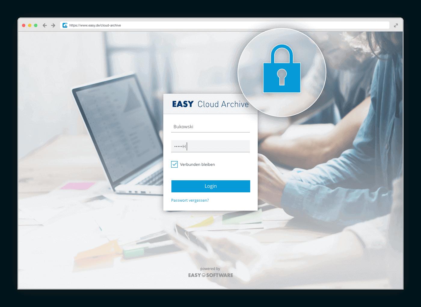 Datenschutz und Datensicherheit.