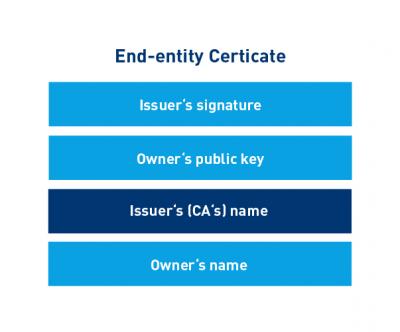 The digital zertificate - Illustration
