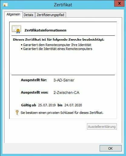 LDAP Zertikfikat Allgemein