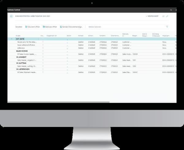 Business Centrall DMS-Addon: Arbeiten mit der Infobox