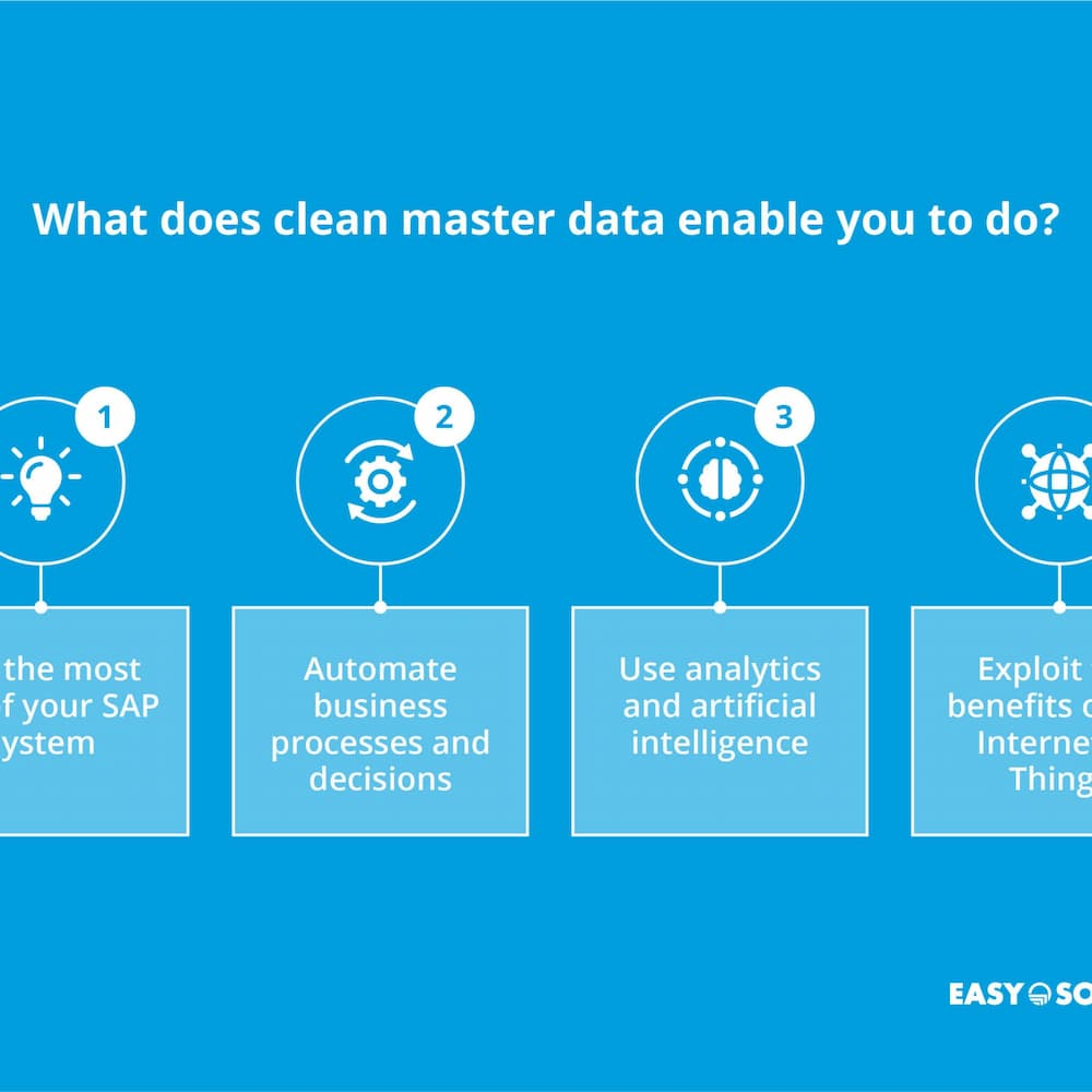 advantages of clean master data